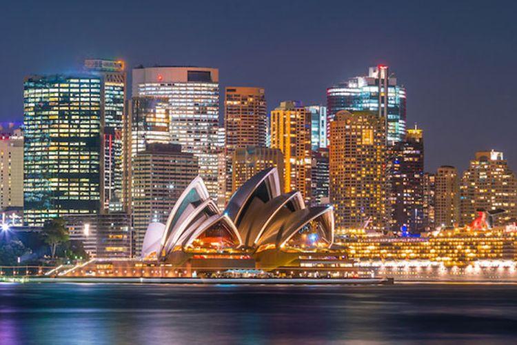 Gedung Opera House di Sydney, Australia.