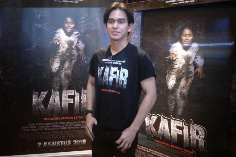 Rangga Azof ditemui di sela nobar film Kafir di XXI Blok M Square, Jakarta Selatan, Kamis (2/8/2018).