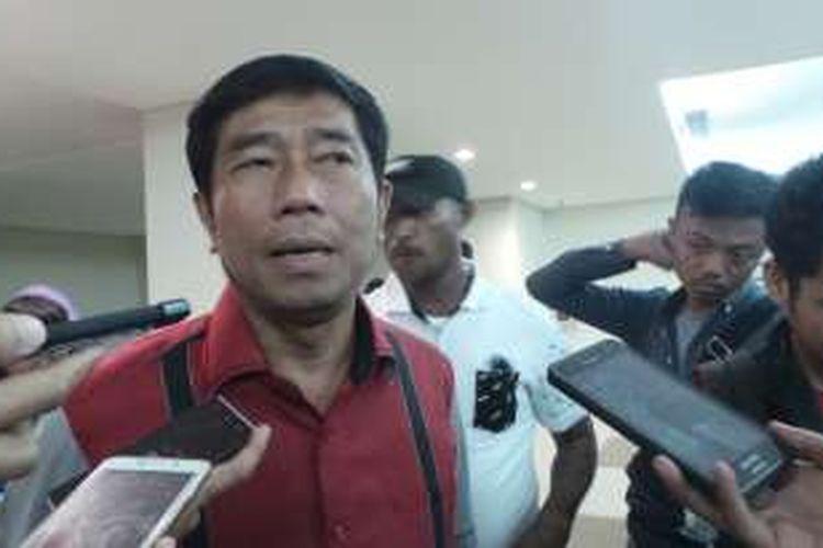 Wakil Ketua DPRD DKI Jakarta Abraham Lunggana alias Lulung saat ditemui di Universitas Negeri Jakarta (UNJ), Rawamangun, Jakarta Timur, Kamis (14/4/2016).