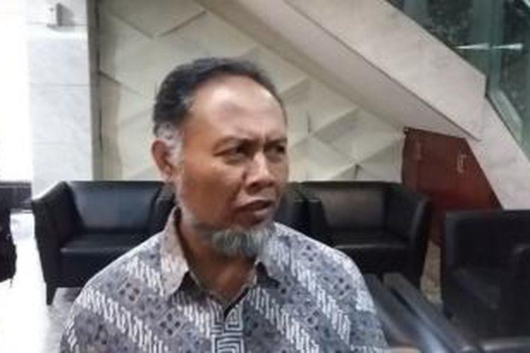 Wakil Ketua nonaktif KPK Bambang Widjojanto, saat ditemui di Mahkamah Konstitusi, Jakarta, Rabu (10/6/2015).