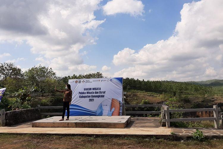 Vaksinasi di Geosite Ngingrong, Wonosari, Gunungkidul, Rabu (28/7/2021)