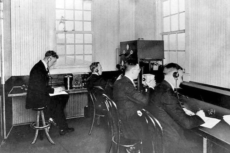 Interior KDKA pada 1920