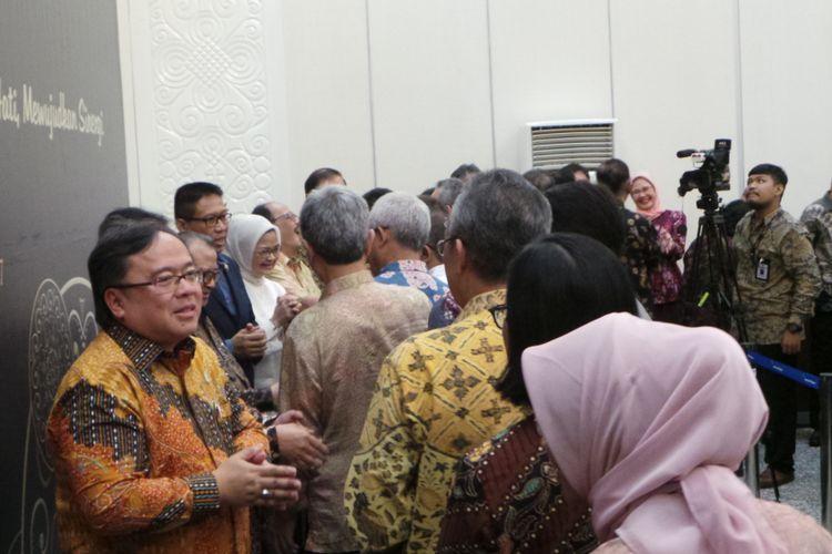 Halal bihalal Menteri PPN Bambang Brodjonegoro dengan pegawai Bappenas, di kantor Bappenas, Menteng, Jakarta Pusat, Senin (3/7/2017).