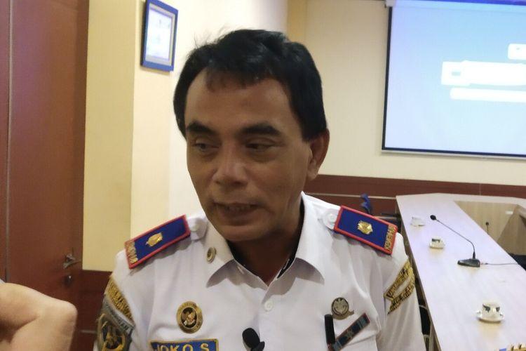 Koordinator Terminal Penumpang Tipe A Tirtonadi Solo, Joko Sutriyanto ditemui di kantornya, Senin (16/12/2019).