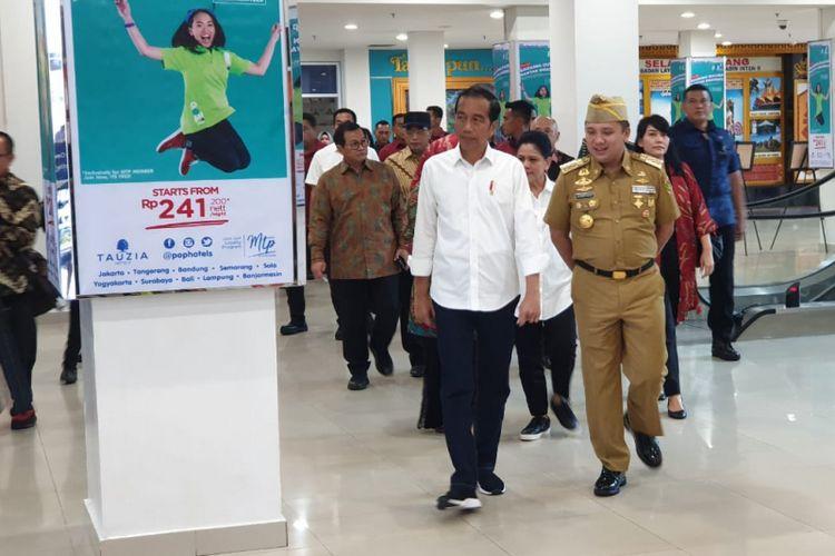 Presiden Joko Widodo melakukan kunjungan kerja ke Provinsi Lampung, Jumat (8/3/2019).