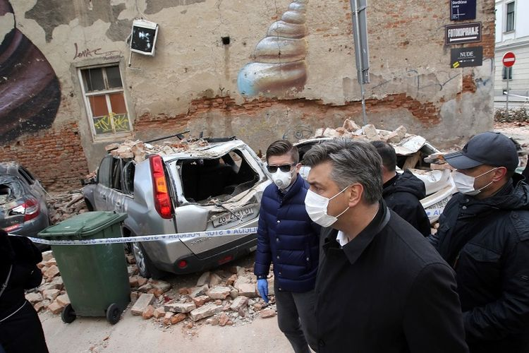 Di Tengah Wabah Virus Corona Gempa Guncang Zagreb Ibu Kota Kroasia Halaman All Kompas Com