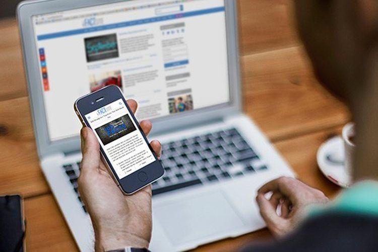 Ilustrasi pengguna gadget