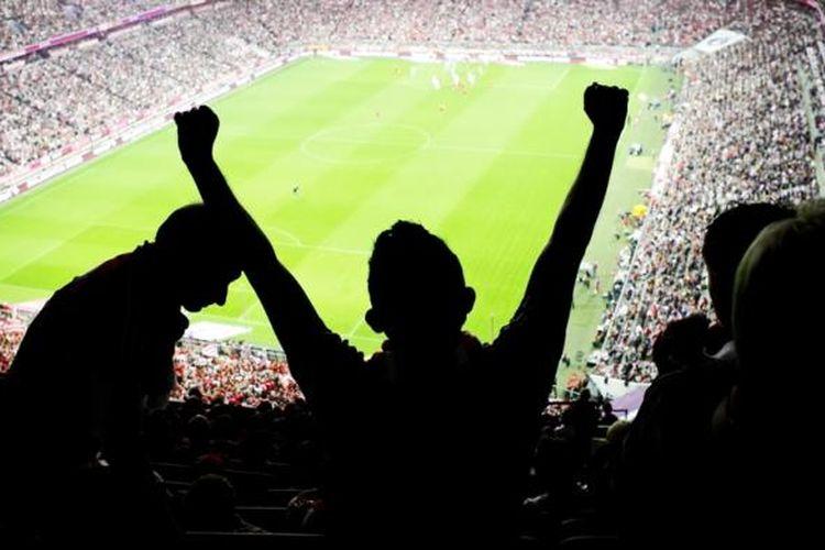 Ilustrasi stadion sepak bola.