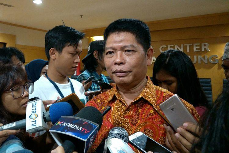 Kepala Biro Hukum dan Humas MA, Abdullah ketika ditemui di Media Center, MA, Jakarta, Jumat (12/1/2018).