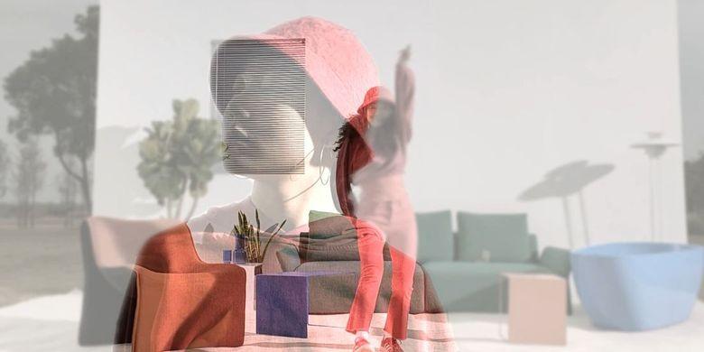 Hasil gambar yang dihasilkan dari penggunaan fitur AI Mixed Portrait pada Oppo Reno5.