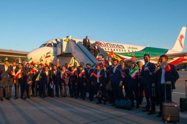 Tim nasional Iran menjadi yang pertama tiba di Rusia setelah pesawat mereka mendarat di Bandara Vnukovo pada 5 Juni 2018 pukul 20.26 waktu setempat atau 6 Juni 2018 pukul 00.26 WIB.