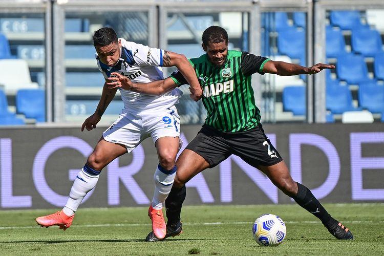 Laga Sassuolo vs Atalanta pada lanjutan pekan ke-34 Liga Italia yang berlangsung di Stadion Mapei, Minggu (2/5/2021) malam WIB.