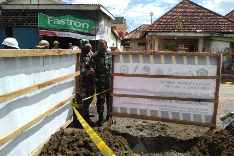 Lokasi ledakan pipa gas milik PT Eltran Indonesia di jalan Sentosa, Kecamatan Seberang Ulu (SU) II, Palembang, Sumatera Selatan, Rabu (15/7/2020).