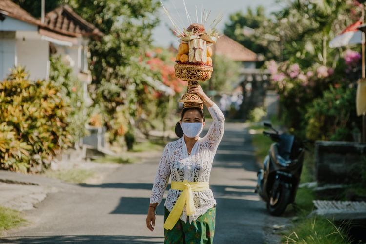 Ilustrasi pariwisata di Bali di tengah pandemi Covid-19