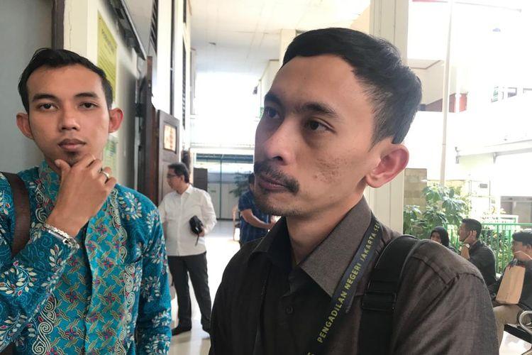 Anggota tim Biro Hukum Komisi Pemilihan Umum (KPU) Setya Indra Arifin saat ditemui usai sidang di Pengadilan Negeri Jakarta Selatan, Rabu (24/7/2019).