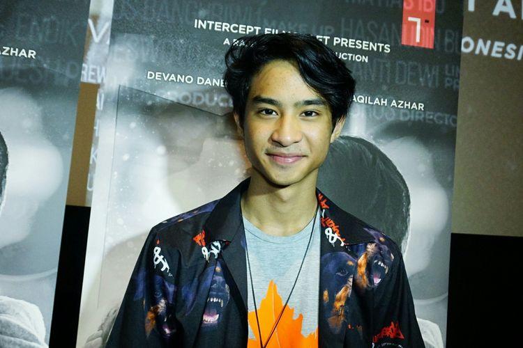 Devano Danendra dalam jumpa pers gala premiere film MeloDylan di Metropole XXI, Mentang, Jakarta Pusat, Senin (1/4/2019).