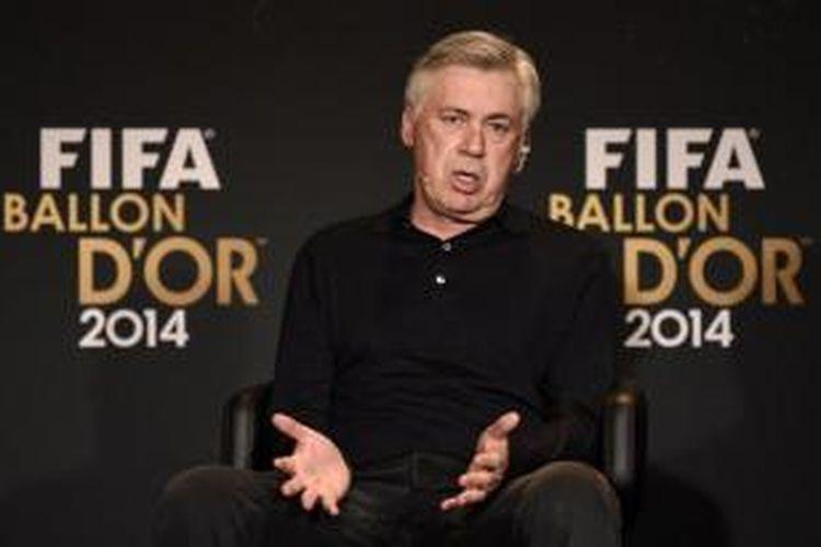 Pelatih Real Madrid asal Italia, Carlo Ancelotti.