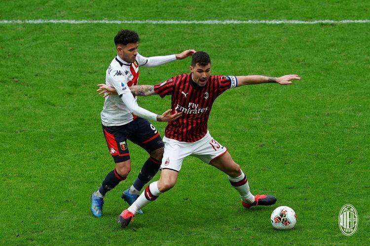 Pertandingan AC Milan vs Genoa di Stadion San Siro, Minggu (8/3/2020), digelar tanpa dihadiri penonton.