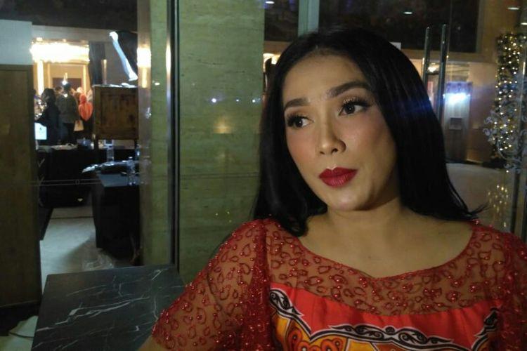 Ussy Sulistiawaty saat ditemui dalam sebuah acara pariwisata di Hotel Indonesia Kempinski, Jakarta Pusat, Senin (26/11/2018).