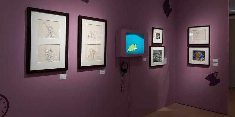 Pameran Disney: Magic of Animation di ArtScience Museum Singapura.