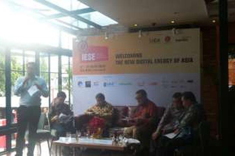 Konferensi pres Indonesia E-commerce Summit & Expo 2016 di Locanda Food Voyager Jakarta Senin (29/2/2016)