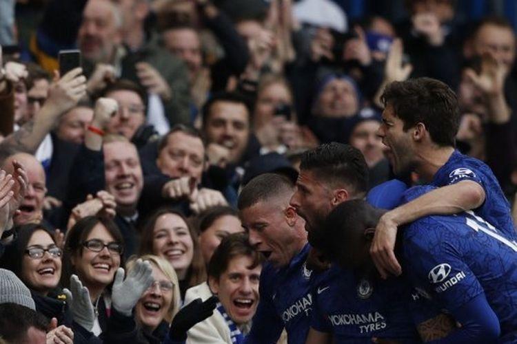 Duel Chelsea vs Everton di Stamford Bridge, London, Minggu (8/3/2020) berakhir dengan skor 4-0 untuk kemenangan The Blues.