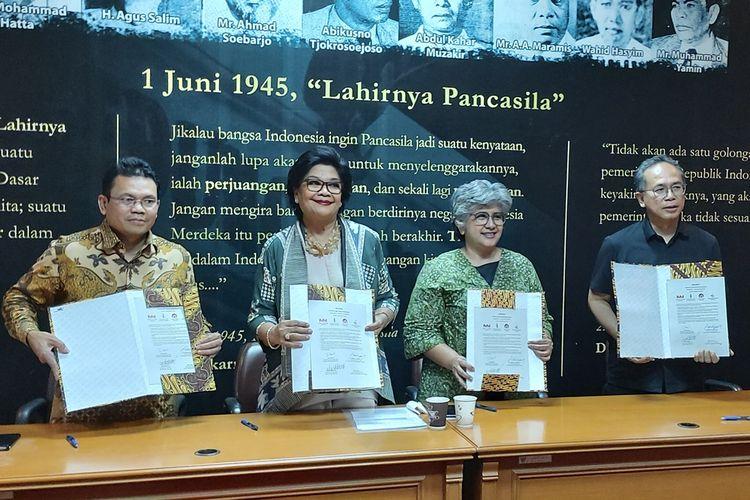 Deklarasi pelestarian cagar budaya berkelanjutan di Jakarta, Senin (28/10/2019).