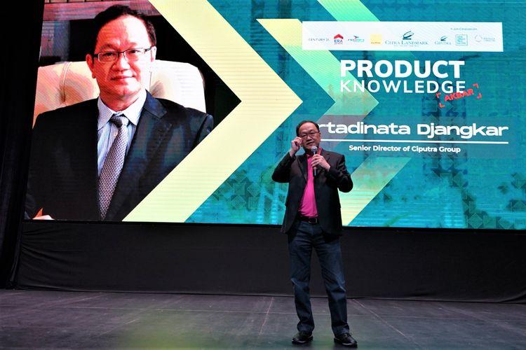 Direktur Senior Ciputra Group Artadinata Djangkar memperkenalkan proyek terbaru Citra Landmark, di Ciracas, Jakarta Timur, Jumat (14/2/2020).