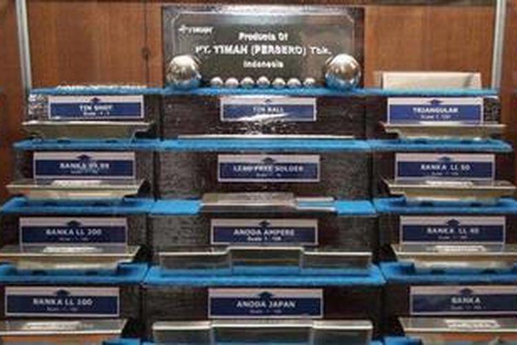 Contoh produk Pusat Metalurgi (Pusmet) PT Timah Tbk