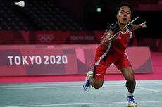 Hasil Olimpiade Tokyo, Anthony Ginting Akhiri 17 Tahun Puasa Medali Tunggal Putra