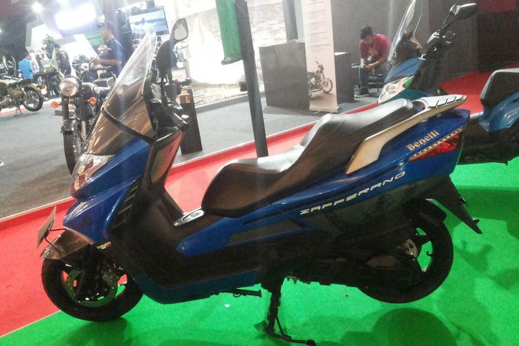 Zafferano 25o EFI, salah satu skutik bongsor Benelli yang didiskon selama Indonesia International Motor Show (IIMS) 2018.