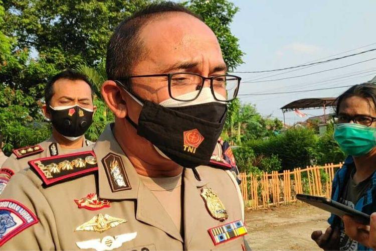 Ditlantas Polda Metro Jaya, Komisaris Besar Polisi Sambodo Purnomo Yogo di Pondok Ranggon, Cipayung, Jakarta Timur, Kamis (17/9/2020)