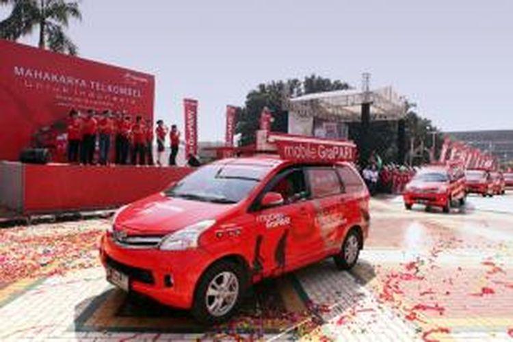 Acara peluncuran Mobile Grapari Indonesia (MGI) di Jakarta, Jumat (16/8/2013).