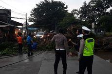 Pohon Tumbang Menimpa Mobil di Jalan Pajajaran Pamulang