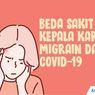 INFOGRAFIK: Beda Sakit Kepala karena Migrain dengan Covid-19