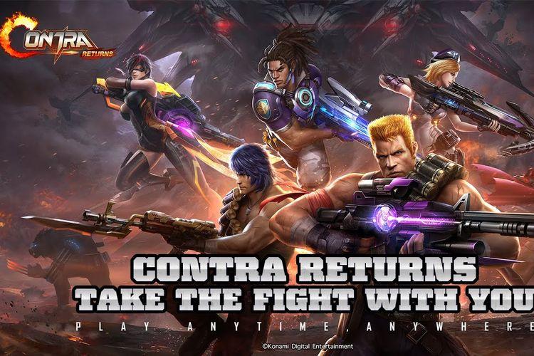 Ilustrasi game Contra Returns.
