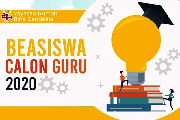 Tangkapan layar beasiswa calon guru 2020 dari Yayasan RUBIC.