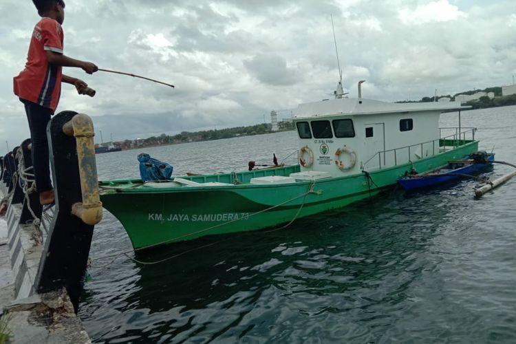 Kapal Motor Jaya Samudera 73 GT 20 dengan nomor 519/Be yang dikelola Badan Usaha Milik Desa (BUMDes) Bersama Kanatang Jaya, Kecamatan Kanatang, Kabupaten Sumba Timur, Nusa Tenggara Timur (NTT).