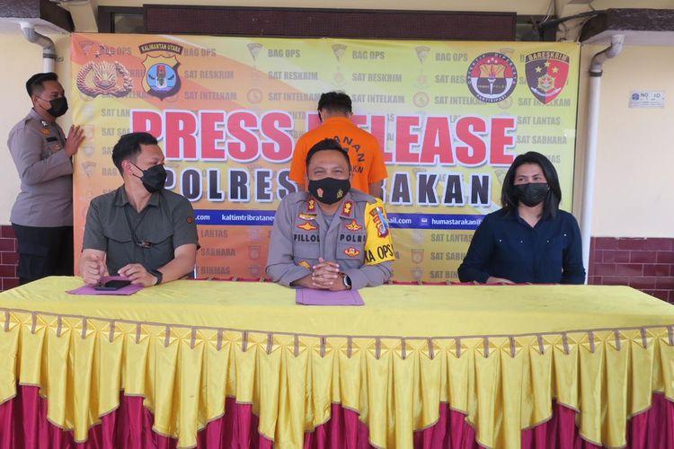 Pers Rilis kasus dugaan pencabulan oleh MS (26) guru SMP swasta di Tarakan Kaltara