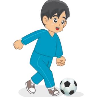 Gerakan menendang bola pada sepak bola