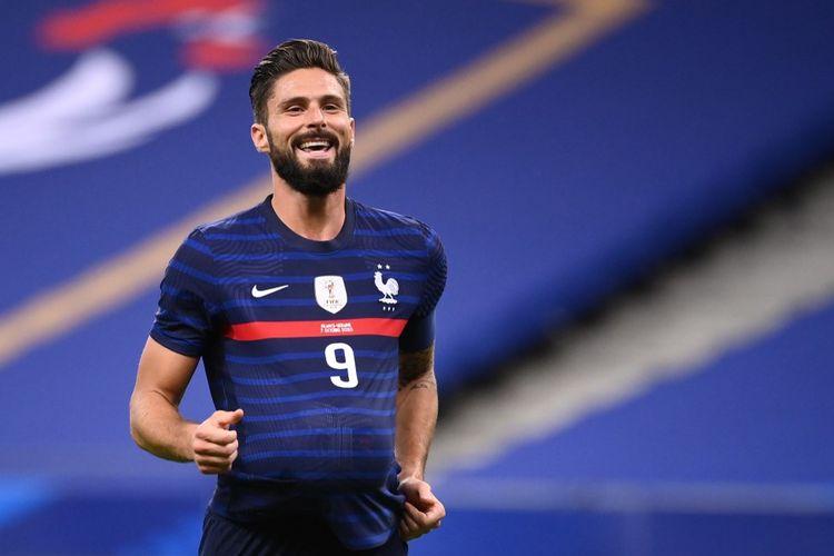Olivier Giroud mencetak dua gol saat Timnas Perancis menang besar 7-1 kontra Ukraina pada Kamis (8/10/2020) dini hari WIB