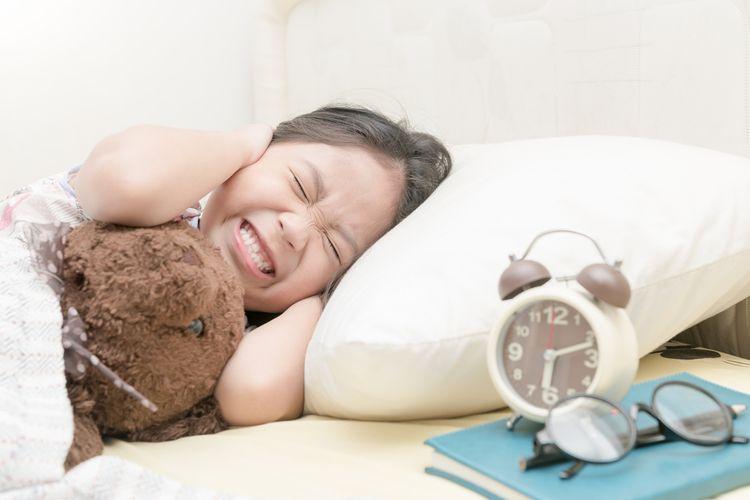 Ilustrasi anak tidur.