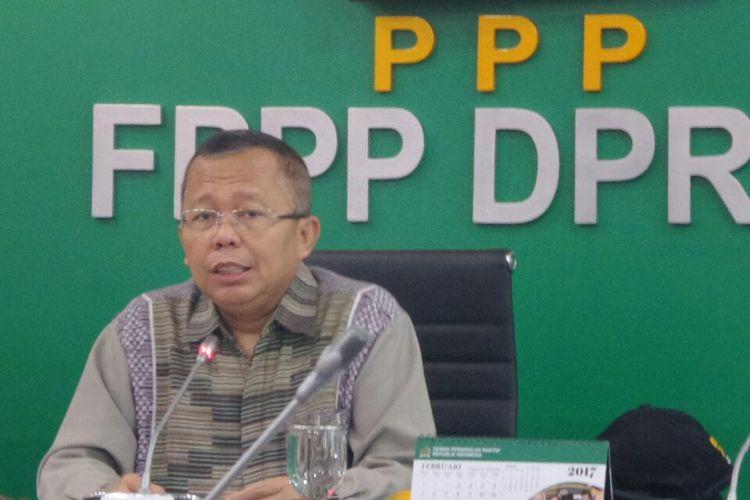 Anggota Komisi III DPR dari Fraksi Partai Persatuan Pembangunan (PPP), Arsul Sani di Kompleks Parlemen, Senayan, Jakarta, Jumat (24/2/2017).