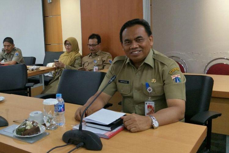 Sekretaris Daerah DKI Jakarta Saefullah di Gedung DPRD DKI Jakarta, Senin (27/11/2017).