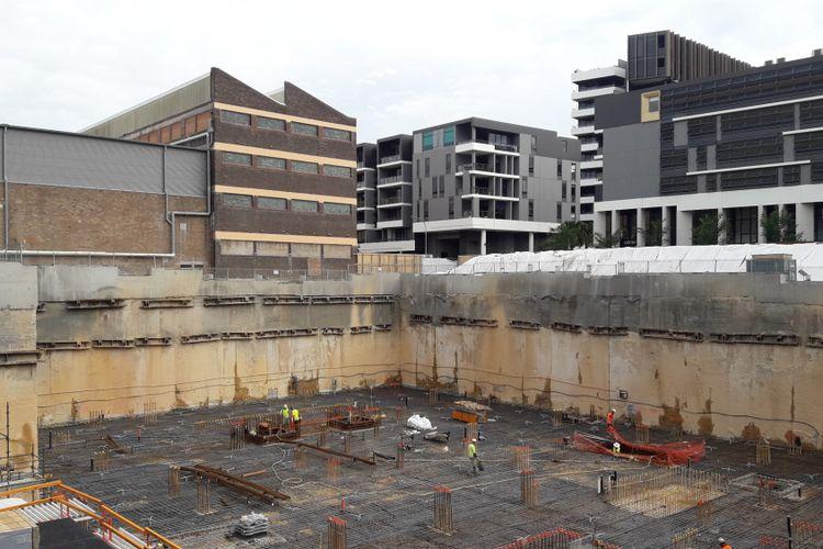 Proyek apartemen Crown Group, Waterfall, di kawasan Waterloo, Sydney, Australia.