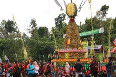 Tumpeng Raksasa dari Durian di Pesta Rakyat Kenduri Durian...