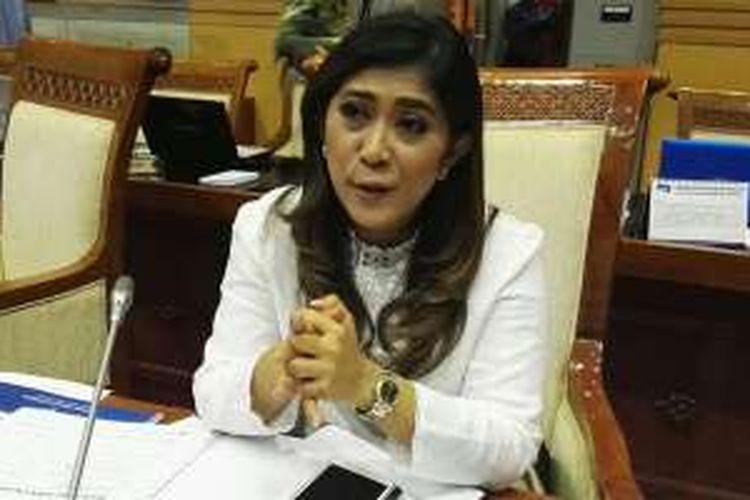 Wakil Ketua Komisi I Dewan Perwakilan Rakyat (DPR) Meutya Hafid saat memberikan pernyataan kepada KompasTekno, Rabu (8/6/2016)