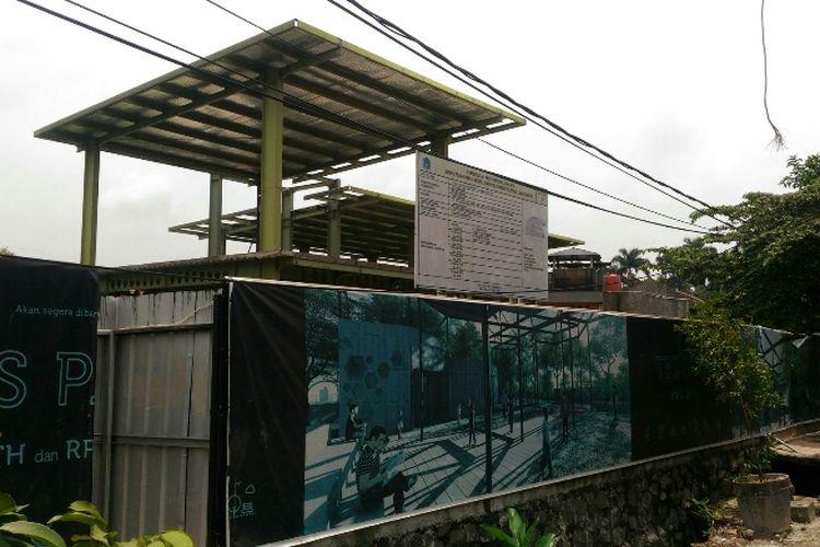 Kondisi terkini dari lokasi pembangunan RTH TB Simatupang Park, Senin (5/3/2018).