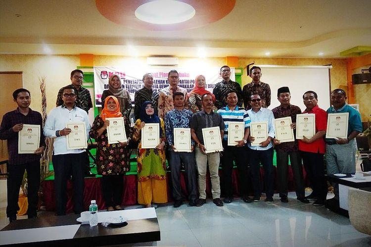 KPU Pesisir Selatan menetapkan 45 anggota DPRD Pesisir Selatan, Sumatera Barat periode 2019-2024. (Dok: Humas KPU Pesisir Selatan)
