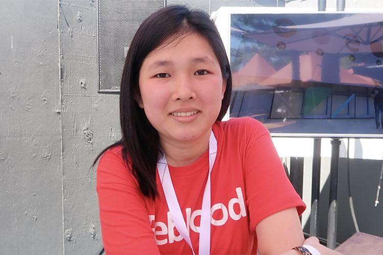 Pendiri Reblood, Leonika Sari, saat ditemui di ajang Google I/O 2017, Mountain View, AS, beberapa saat lalu.